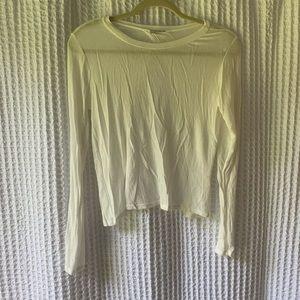 White Open-Back Long Sleeve Tee